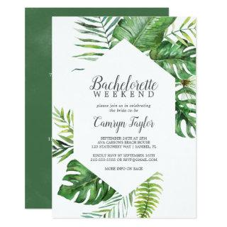 Wild Tropical Palm Bachelorette Weekend Invitations