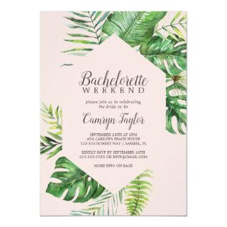 Wild Tropical Palm | Blush Bachelorette Weekend Invitations