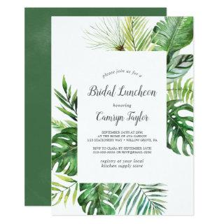 Wild Tropical Palm Bridal Luncheon Invitations