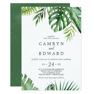 Wild Tropical Palm Casual Wedding Invitations