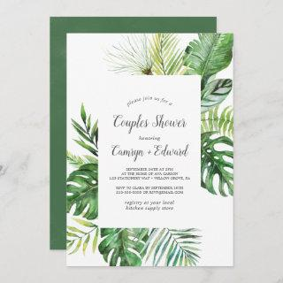 Wild Tropical Palm Couples Shower Invitation