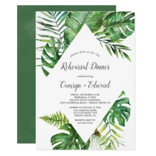 Wild Tropical Palm Rehearsal Dinner Invitations