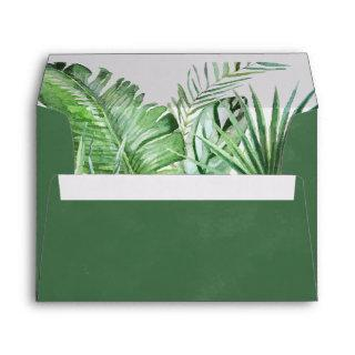 Wild Tropical Palm Wedding Invitations Envelope