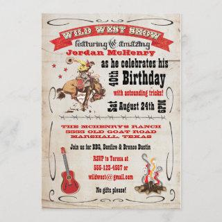 Wild West Show Birthday Party  Poster