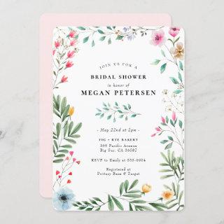 Wildflower Bridal Shower Invitations