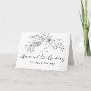 Wildflowers Boho Brunch & Bubbly Couple's Shower Invitations