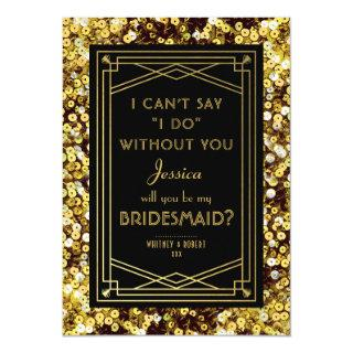Will You Be My Bridesmaid | 1920s Great Gatsby Invitations