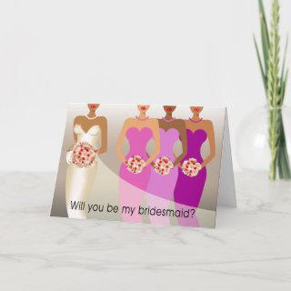 Will you be my Bridesmaid? Bridal Party   purple Invitations