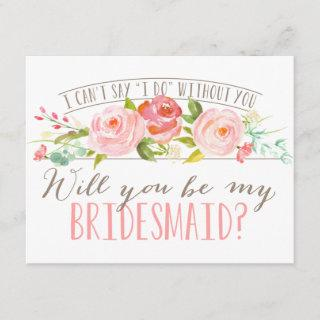 Will You Be My Bridesmaid | Bridesmaid Invitations