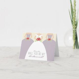 Will You Be My Bridesmaid Card (lilac)