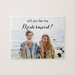 Will You be My Bridesmaid Custom Photo Puzzle Gift