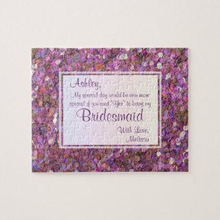 Will You Be My Bridesmaid? Festive Confetti Jigsaw Puzzle