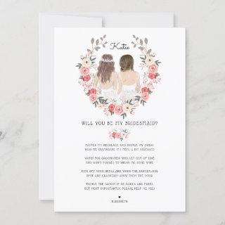 Will you be my Bridesmaid/Maid of Honor Proposal I Invitations