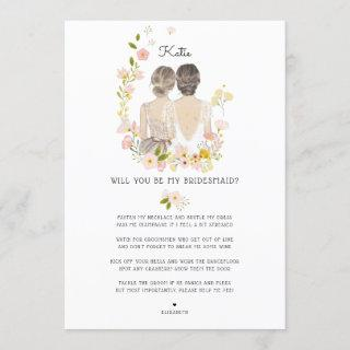 Will you be my Bridesmaid/Maid of Honor Proposal Invitation