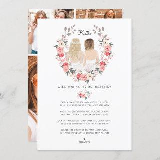 Will you be my Bridesmaid/Maid of Honor Proposal Invitations