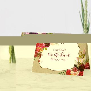 Will you be my Bridesmaid Matron of honor 3979 Invitations