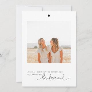 Will You Be My Bridesmaid Photo Proposal Card