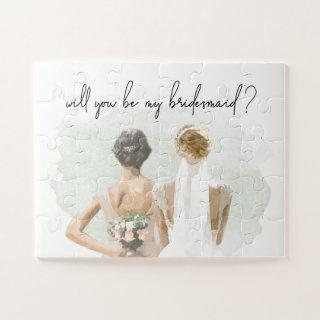 Will You Be My Bridesmaid Proposal Watercolor Jigsaw Puzzle
