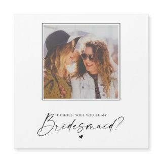 Will You Be My Bridesmaid Wedding Photo Magnet