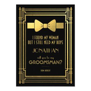Will You Be My Groomsman | Great Gatsby Groomsmen Invitation