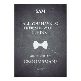 Will  You  Be My Groomsman? Invitation