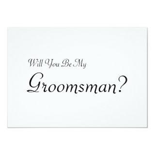 Will You Be My Groomsman with Man Image Invitations