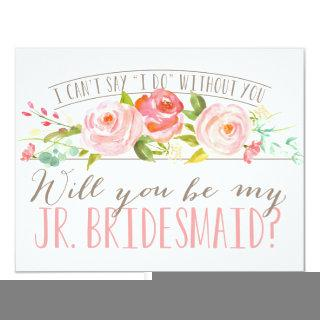 Will You Be My Junior Bridesmaid | Bridesmaid Invitations
