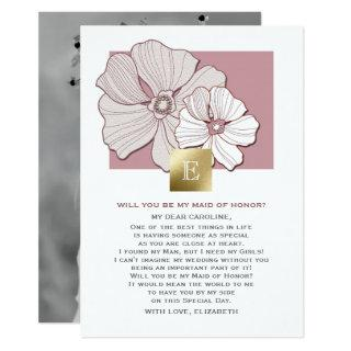 Will you be my Maid of Honor? Custom Photo Cards