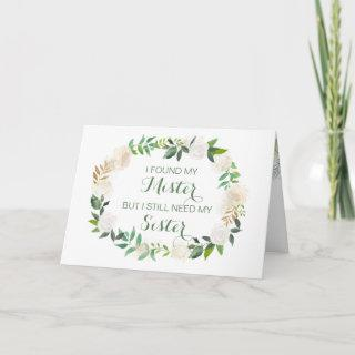 Will you be my Matron of Honor white floral Invitations