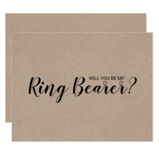 Will You Be My Ring Bearer? Rustic Kraft Paper Invitation