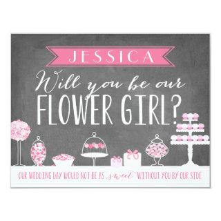 Will You Be Our Flower Girl | Bridesmaid Invitation