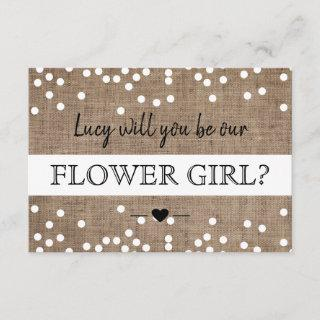 Will You Be Our Flower Girl Card