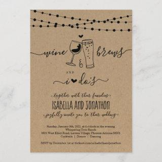 Wine & Brews And I Do's Wedding Invitations