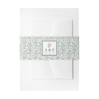 Wine Country   Monogram Wedding  Belly Band