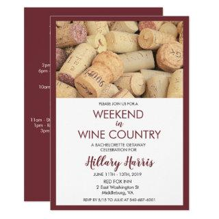 Wine Country Weekend Bachelorette Invitations