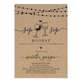 Wine Tasting Bridal Shower Invitation