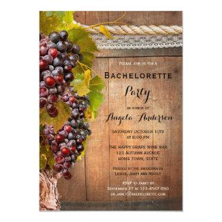 Wine Themed Vineyard Bachelorette Party Invitations
