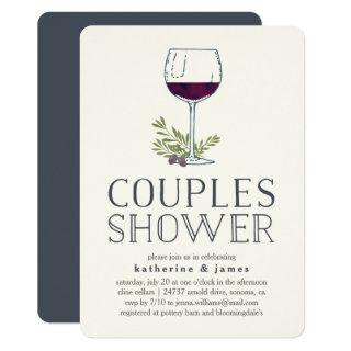 Winery or Wine Tasting Couples Shower Invitations