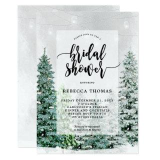 winter christmas snow bridal shower Invitations