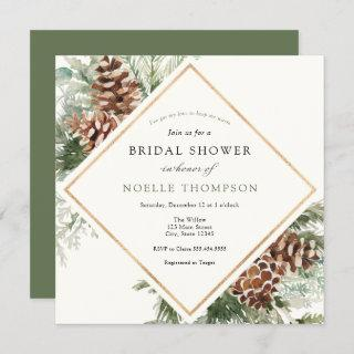Winter Evergreen and Pine Bridal Shower