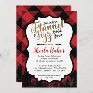 Winter Flannel Bridal Shower Invitation