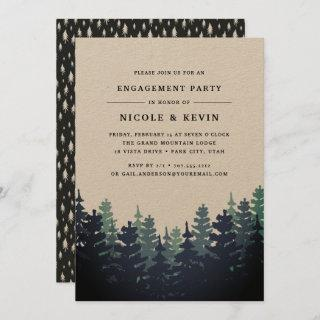Winter Forest Engagement Party Invitation