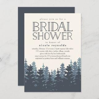 Winter Forest Rustic Bridal Shower Invitations
