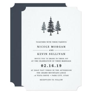 Winter Forest Wedding Invitation