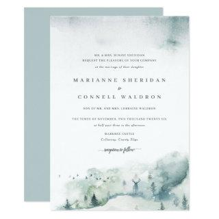 Winter Mystère I Formal Wedding Invitations