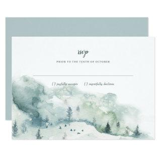 Winter Mystère Wedding RSVP Response Invitation