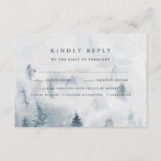 Winter Reverie Meal Choice RSVP Card