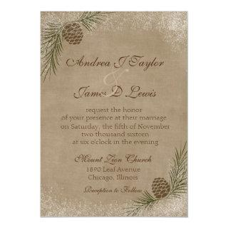 Winter Wedding Invitation Pinecone