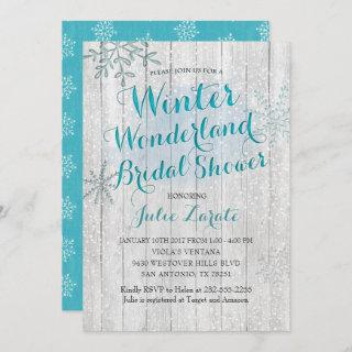 Winter Wonderland Bridal Shower Invitations
