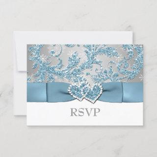 Winter Wonderland, Joined Hearts Wedding RSVP 2